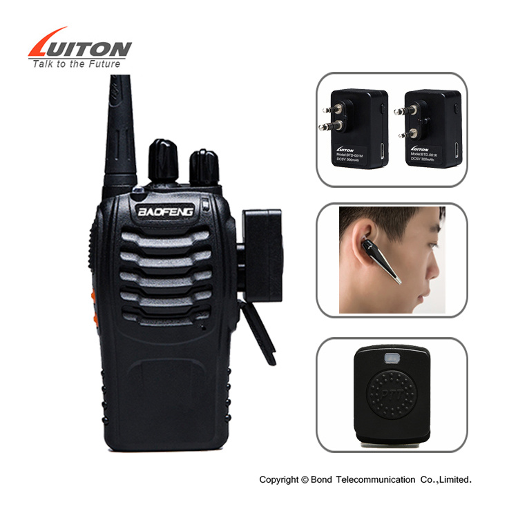 2018 New Mini Walkie Talkie Bluetooth Headset pictures & photos
