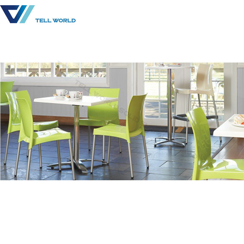 Food Court Tell World Furniture Marble Restaurant Table