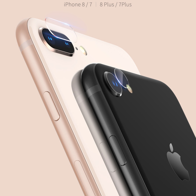 hot sale online 7bea4 7e725 [Hot Item] High Quality for iPhone 7 8 Plus Rear Camera Lens Tempered Glass  Film Back Protector