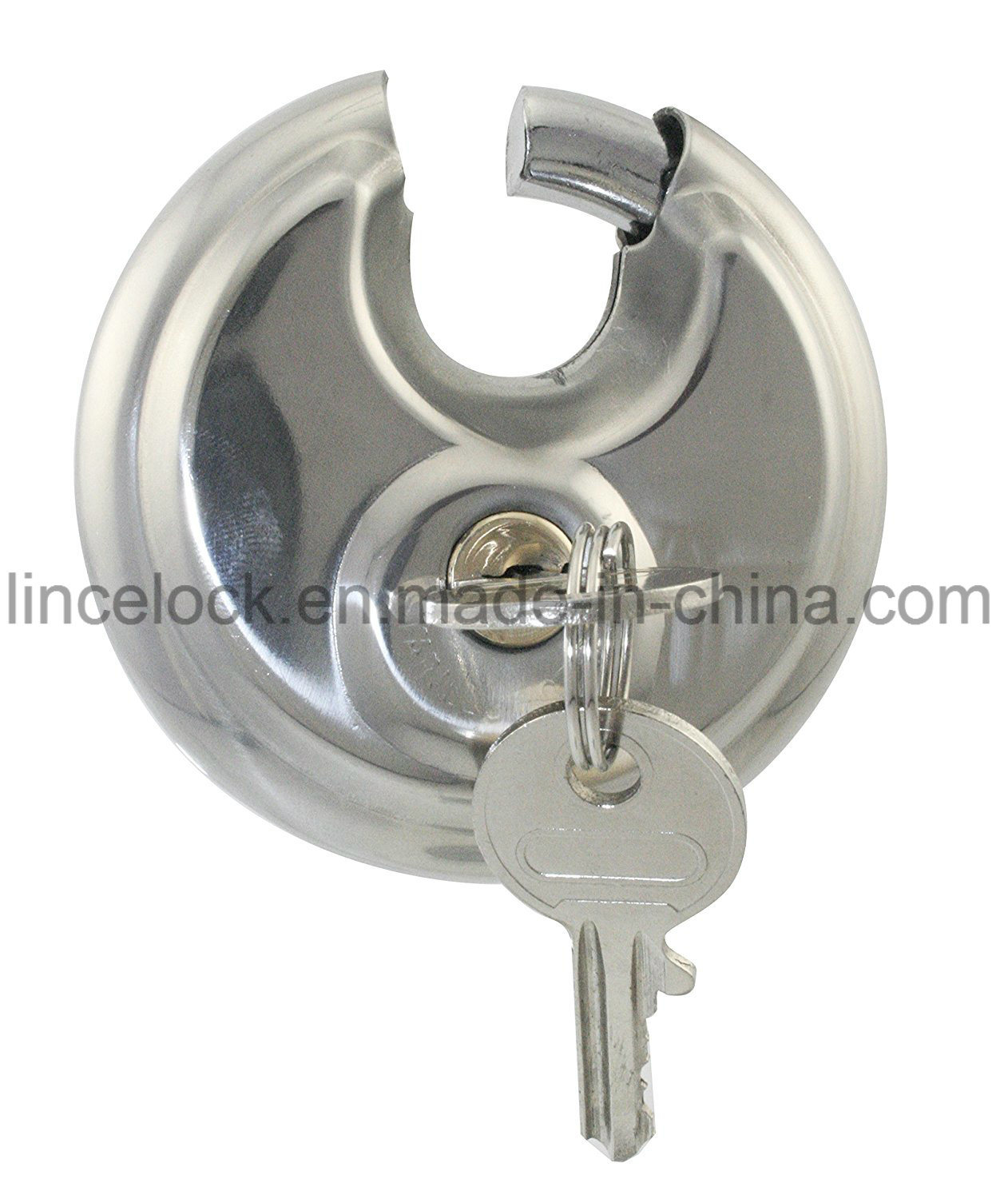 Padlock, Disc Padlock/Stainless Steel Dimple Key Disc Padlock (203) pictures & photos