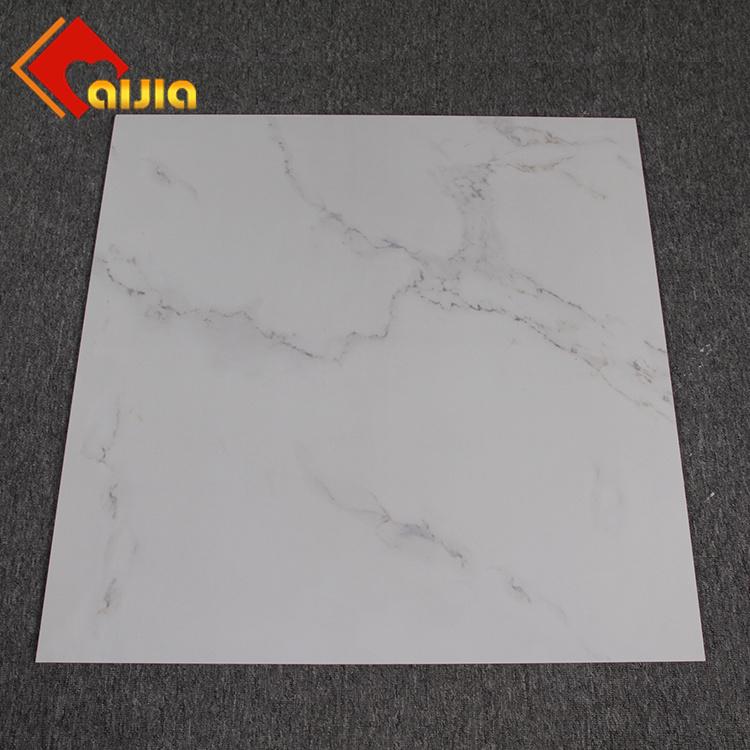 China New Model Polished Glazed Porcelain Carrara Marble Floor Tiles