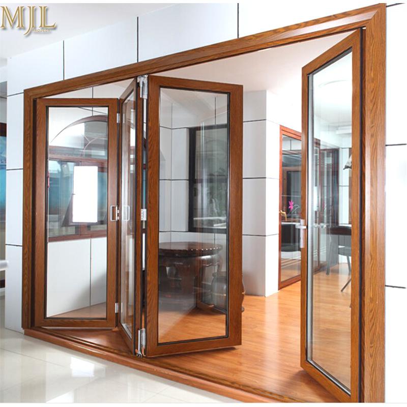 China 2018 Modern House Design Aluminum Alloy Framed Glass Doors