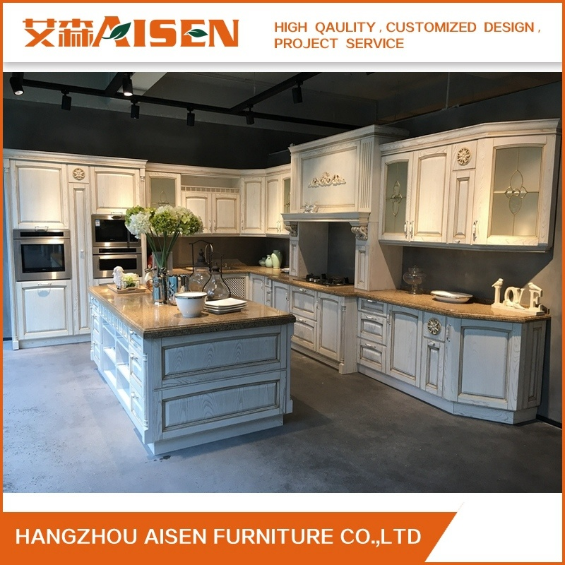 China American Kitchen Cabinet Solid Wood Modular Kitchen Design
