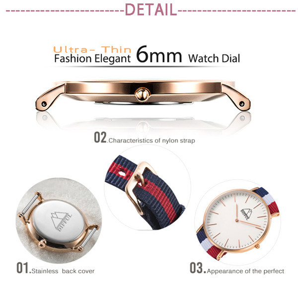 Dw Automatic Digital Stainless Steel Waterproof Wristband Fashion Sport Quartz Men Watch (DC-1101) pictures & photos