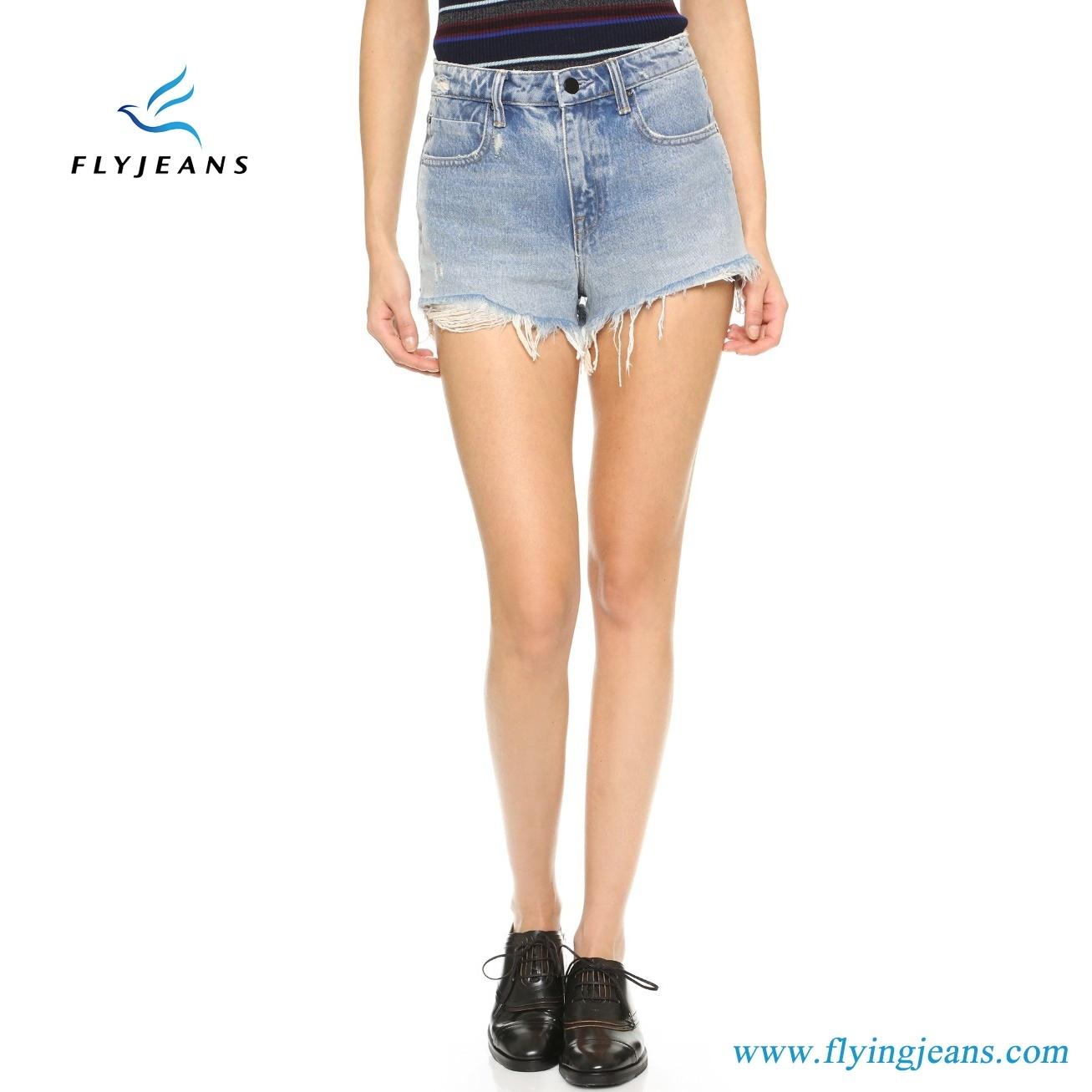 18f378951e China Hot Sale Fashion Blue Skinny Frayed Distressed Mini Pants Ladies/Women  Denim Shorts by Jeans Manufacturer (Shorts E. P. 222) - China Girls Shorts,  ...