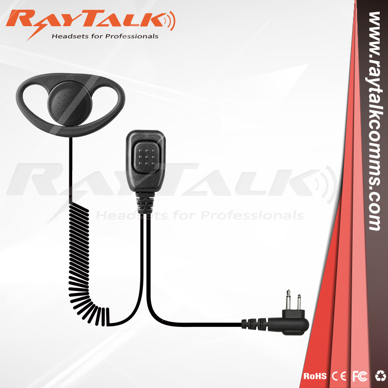 2Pin G-Shape Walkie Talkie Earpiece Headset PTT MIC for Motorola Two Way Radio