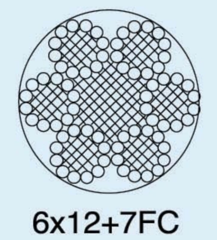 China Galvanized Steel Wire Rope 6X12+7FC Photos & Pictures - Made ...