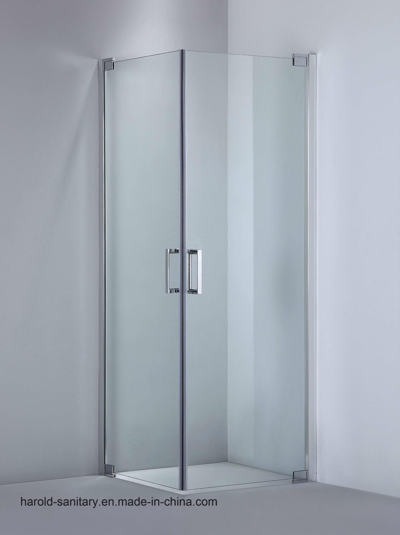 China Frameless Glass Shower Enclosure 2 Doors Swing China