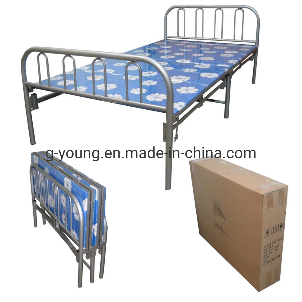 - China Folding Bunk Bed Folded Military Army Single Metal Bed