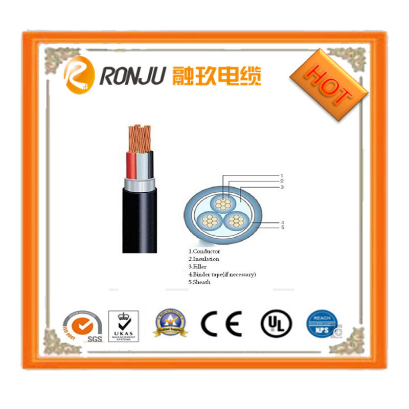 China Flat Type Sheath Electric Wire BVVB 2 Core with Earth Ground ...