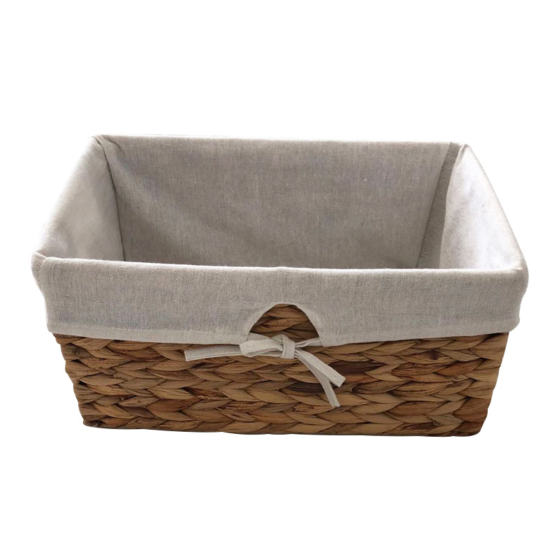 China Decorative Natural Water Hyacinth Storage Basket With Liner China Laundry Baskets And Hyacinth Storage Baskets Price