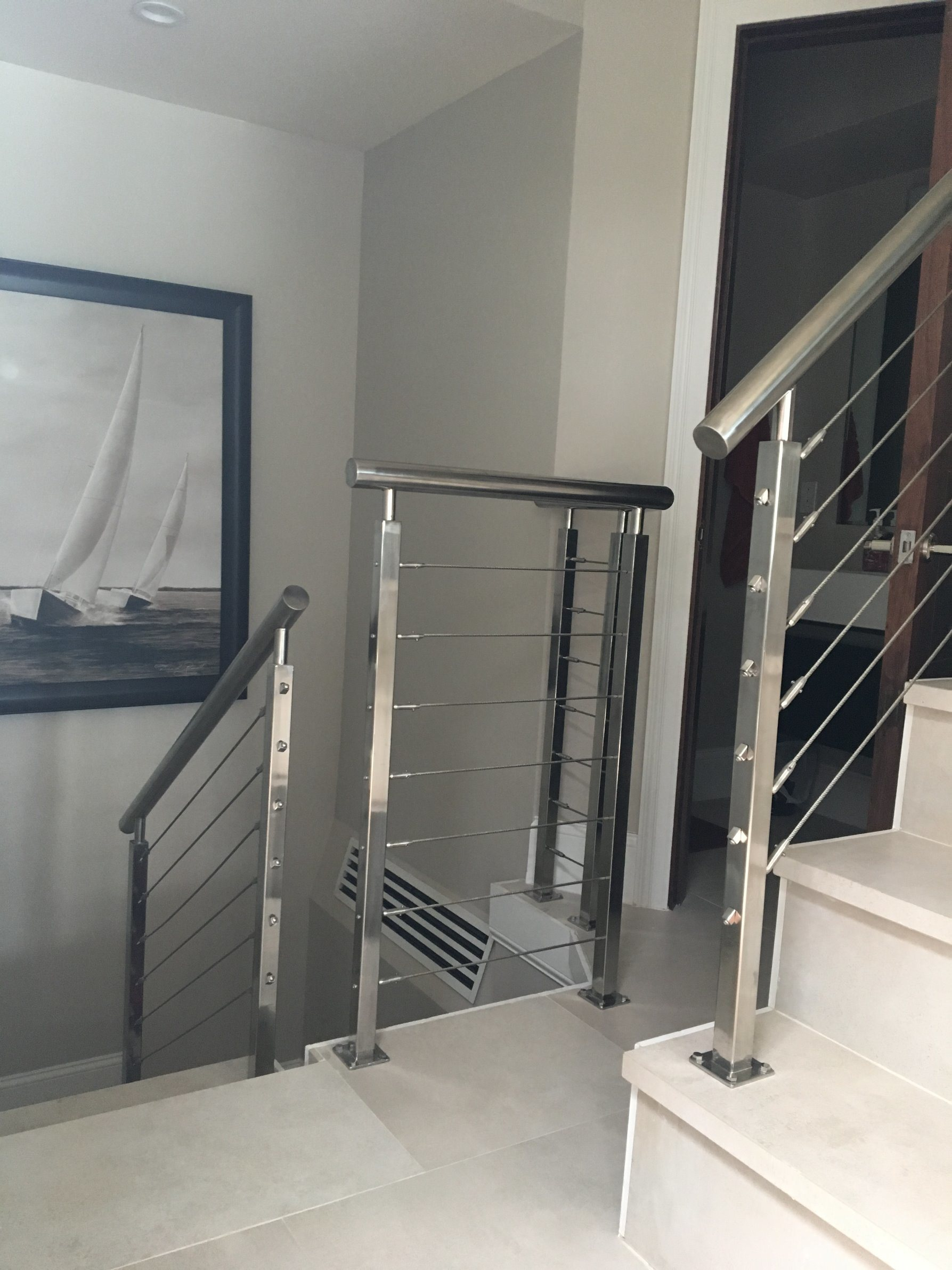 China Interior Stainless Steel Cable Railing Stair Railing - China ...