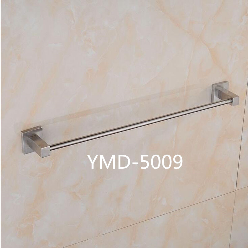 China Square Shape Style Wall Mounted Stainless Steel Single Towel Rail Holder Ings