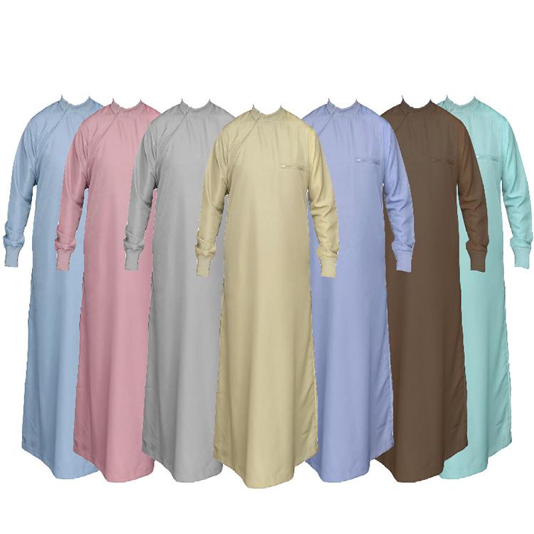 [Hot Item] 100%Polyester Arabic Thobe East Men Dress Spun Superfine Fabric
