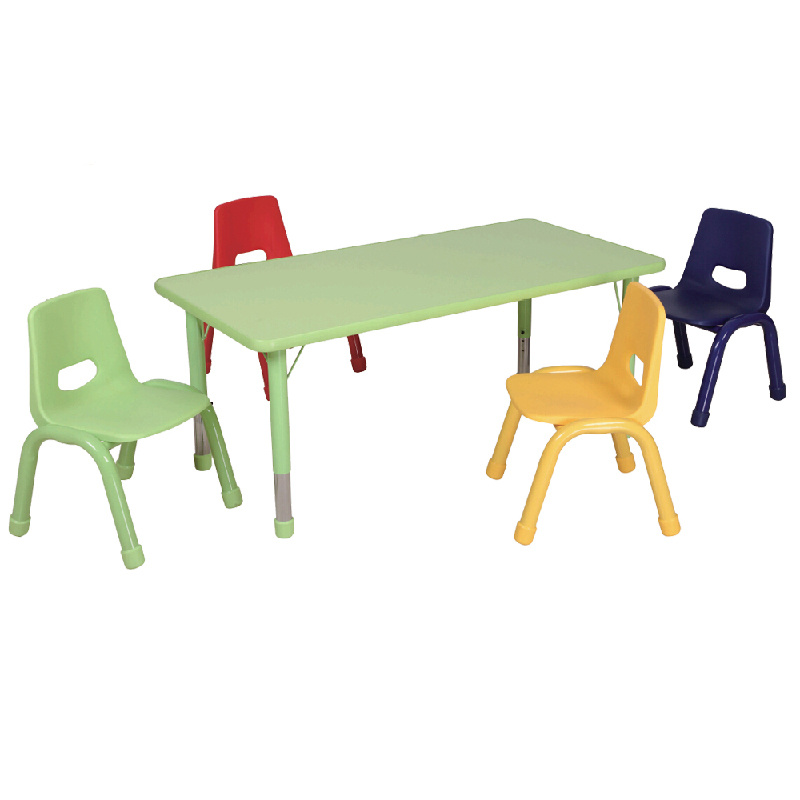 China Rectangle Children Table Chair Set Preschool Furniture
