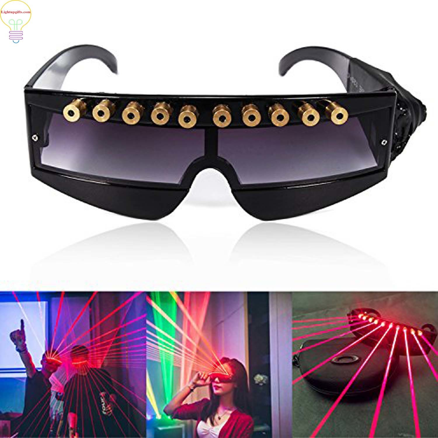 13387385aa74 China LED Light up Glasses DJ Laser Glasses Light - China LED Laser Glasses