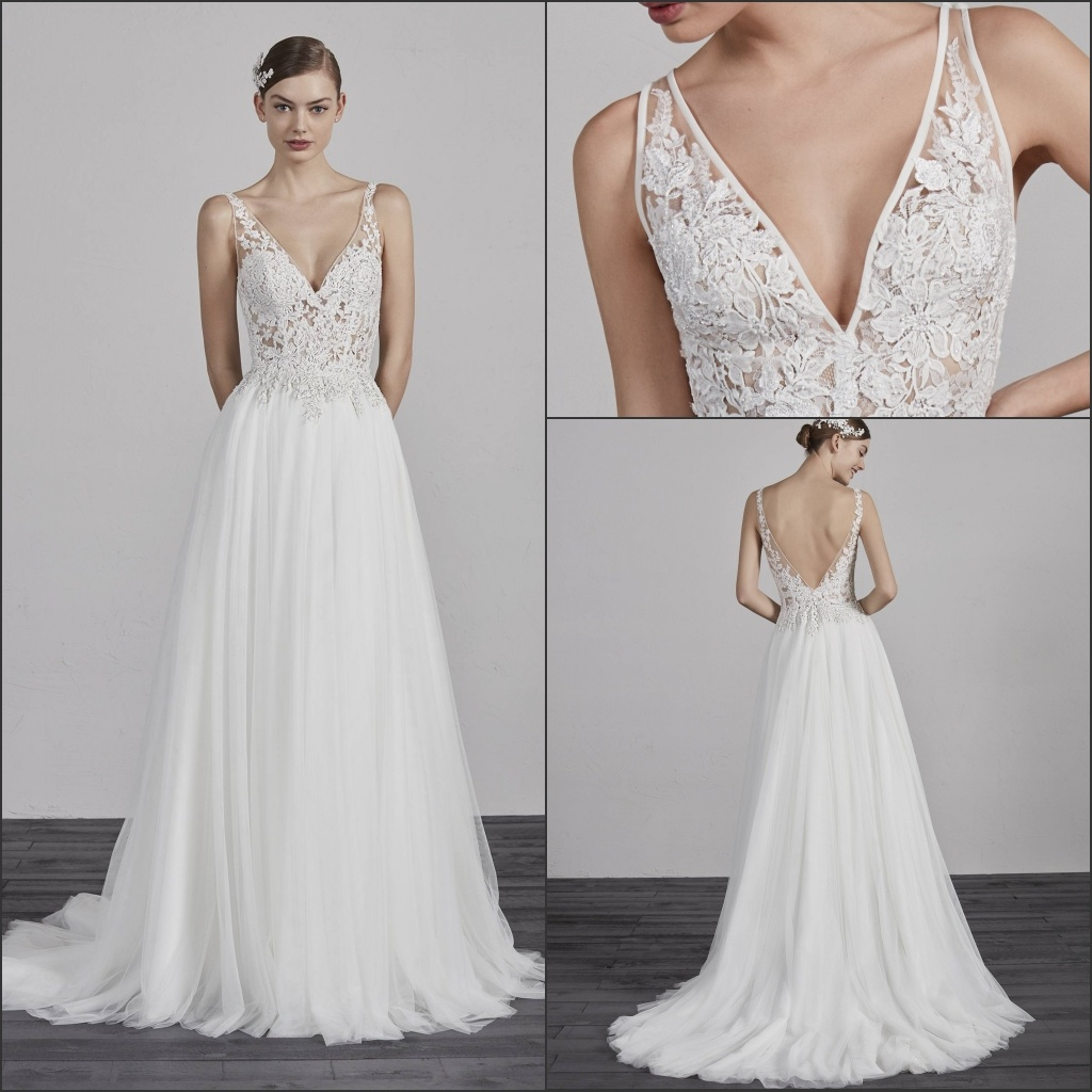 China A Line Boho Wedding Gowns Sleeveless Lace Tulle Bridal Dress H13348 Gown