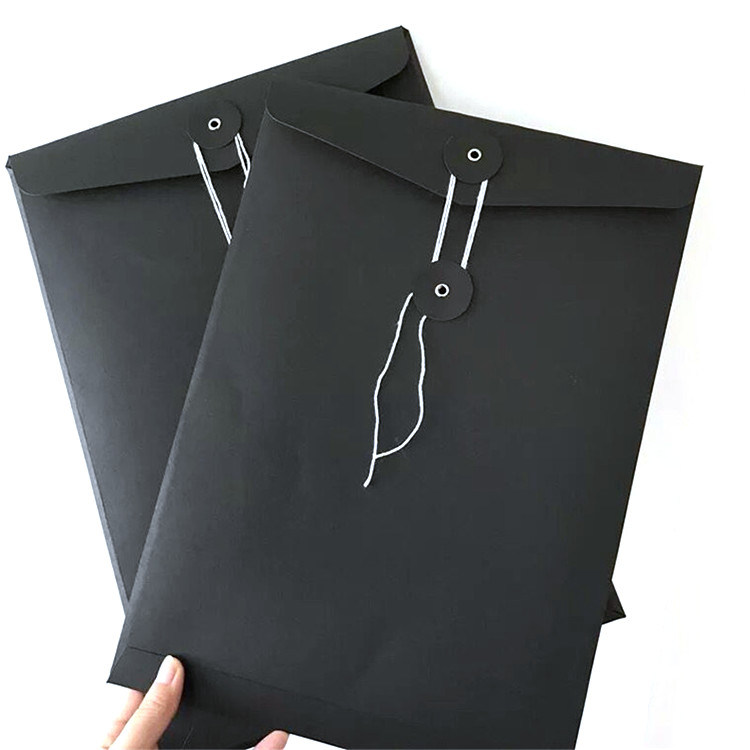 9c23b8c6a79e China Custom Design A4 Printing Black Kraft Paper Packaging Envelope ...