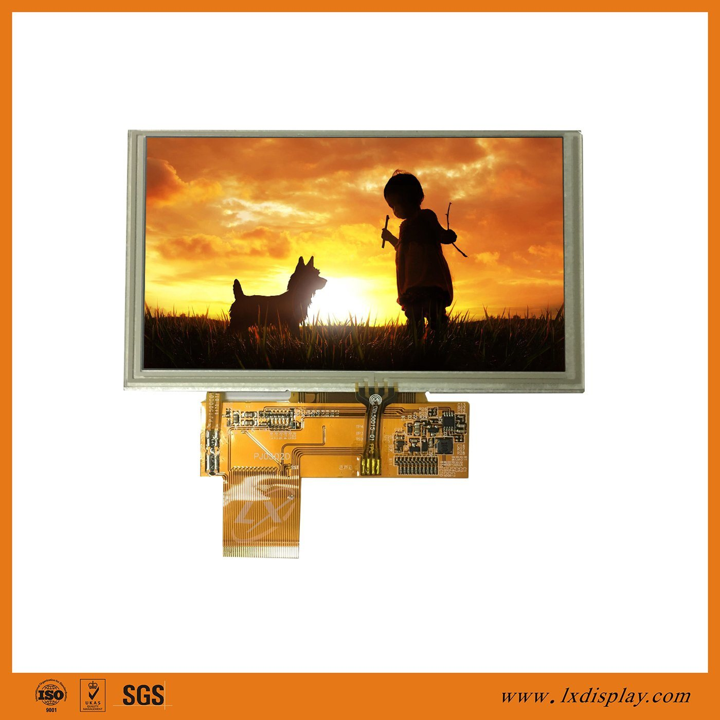 China 5 Inch Liquid Crystal Display 800480 Lcd Touch Screen Tft Module
