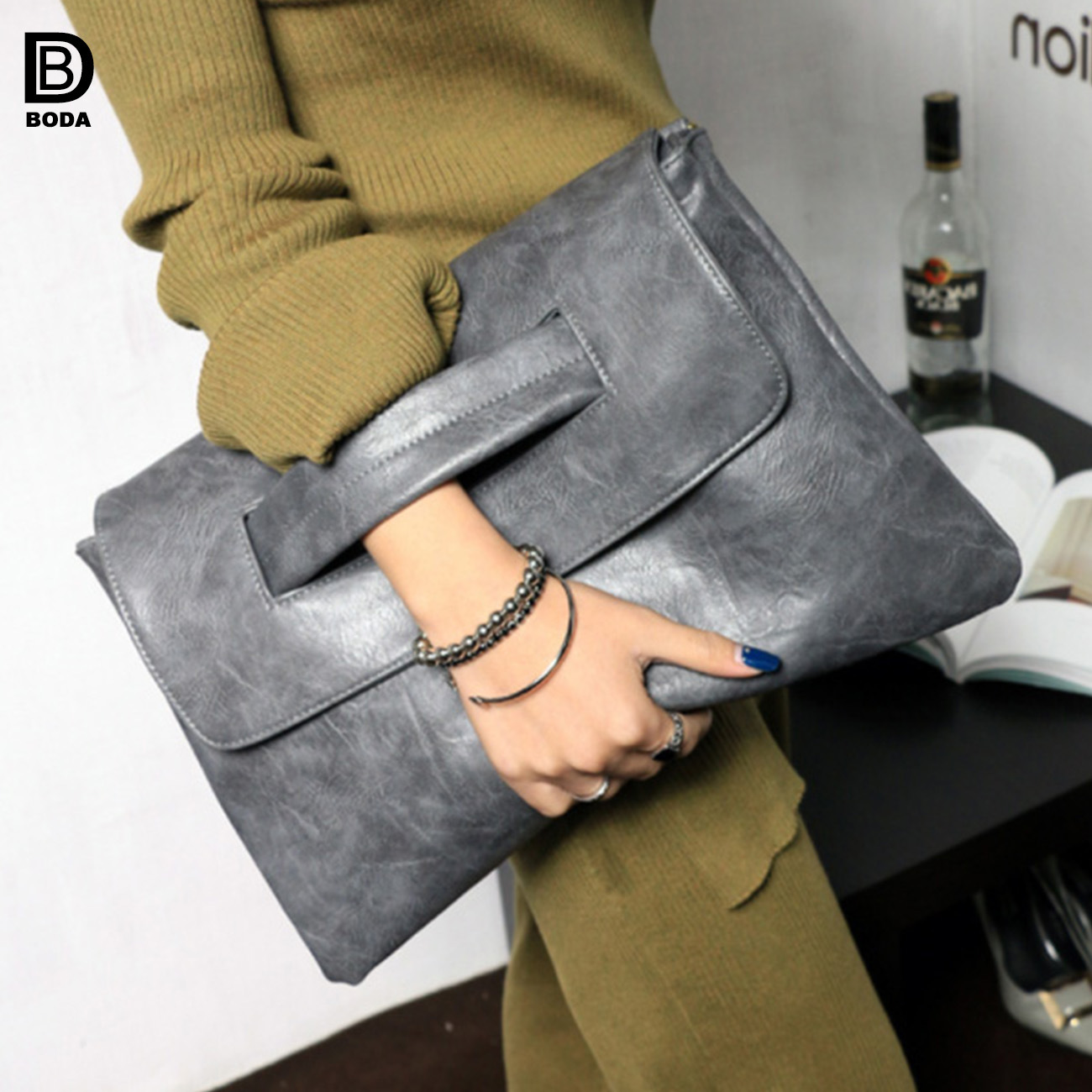 buying now new selection structural disablities [Hot Item] Fashion Ladies PU Leather Evening Clutch Bag with Big Capacity