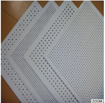 China Perforated Gypsum Ceiling Tiles Board Acoustic