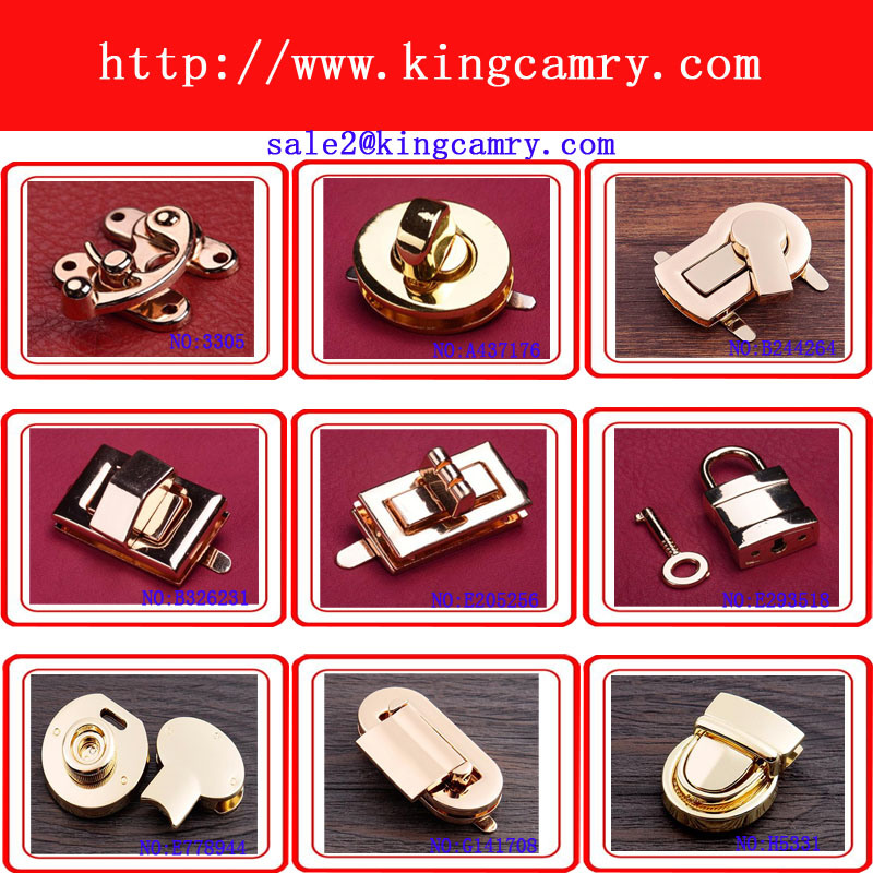 Handbag Lock Bag Lock Turn Lock Press Lock Case Lock Luggage Lock Combination Lock Bag Closure Padlock Alloy Lock Metal Lock Shoe Closure pictures & photos