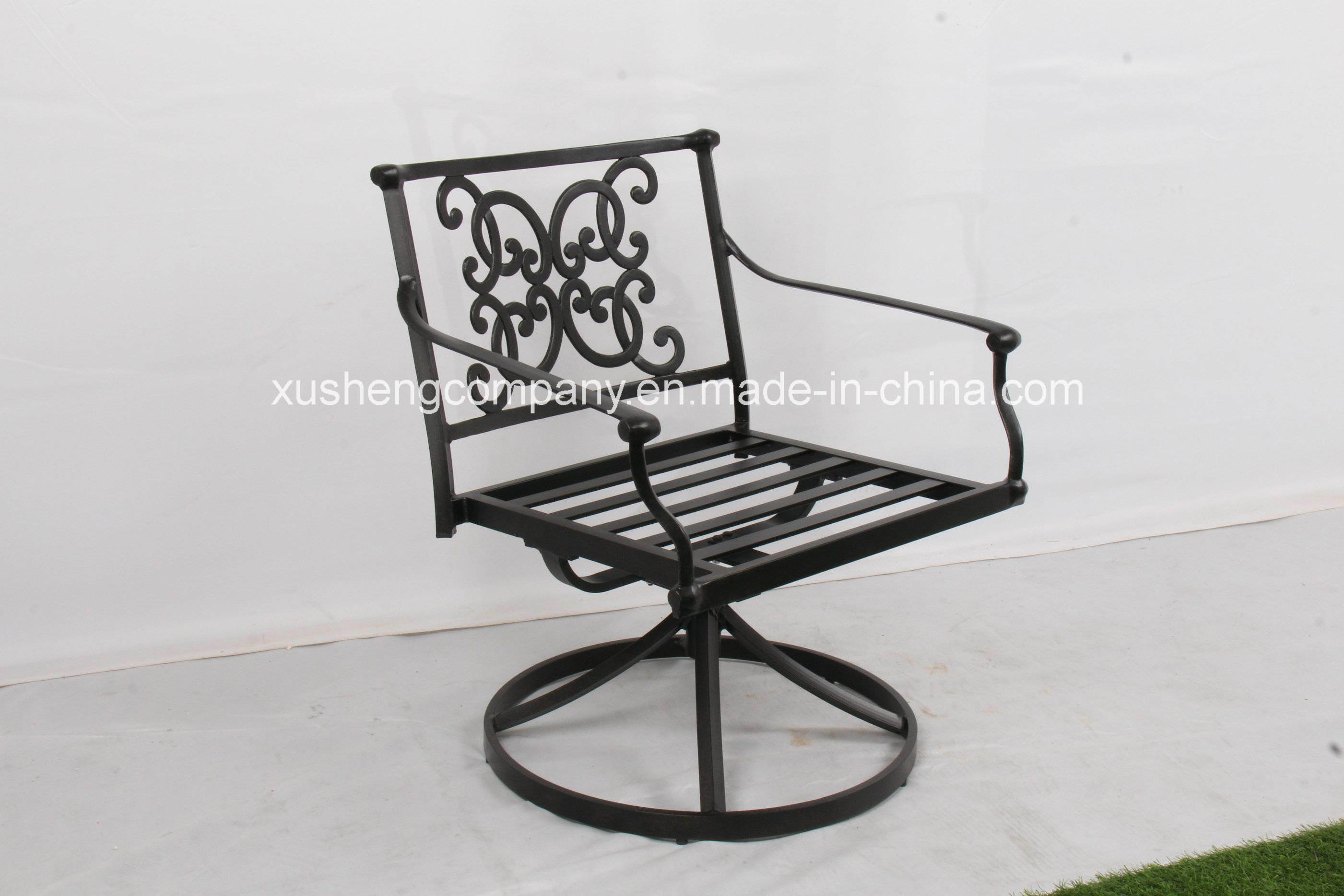 China Luxtury Outdoor High Quality Cast Aluminum Patio Furniture Azusa Swivel Rocker Aluminium Set Clical