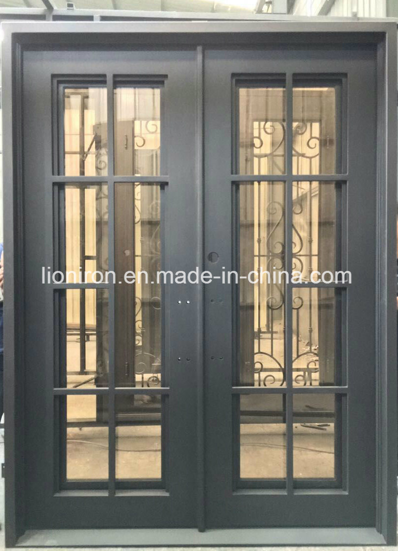 China Entrance Doors Residential And Wrought Iron French Doors