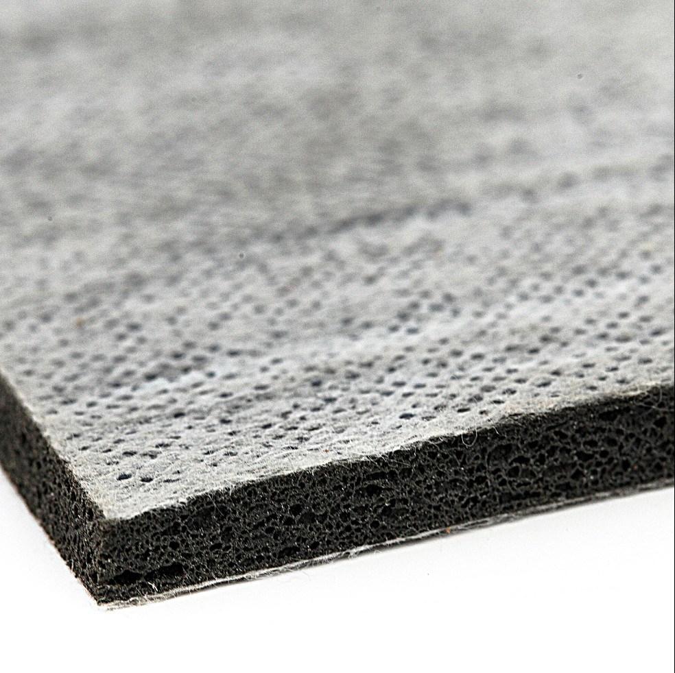 China Sponge Rubber Carpet Underlay With Nonwoven Fabric