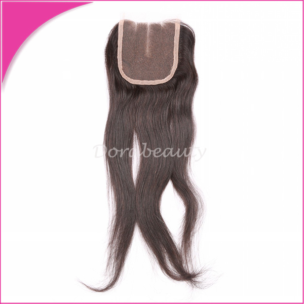 Unprocessed Lace Closure Three Part Brazilian Virgin Hair Wig