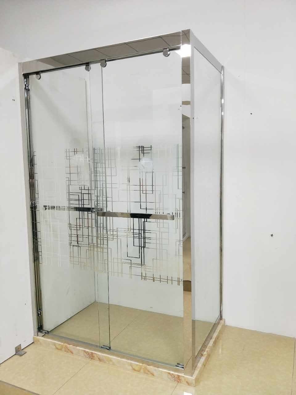 China Luxury stainless Steel Frame Hight Base Shower Enclosure ...