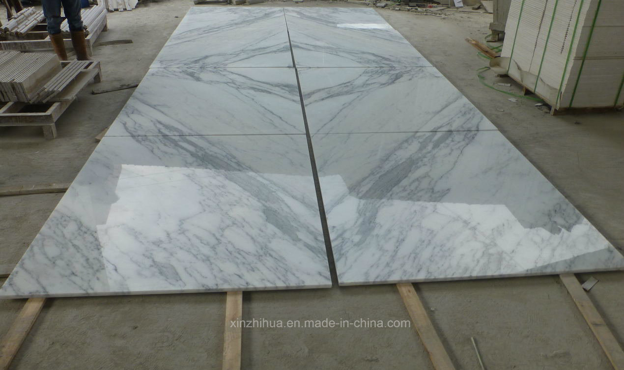 China Building Decoration Material Statuario Marble White Marble Tiles Slabs Vanity Top Countertop Flooring China Marble Marble Tiles