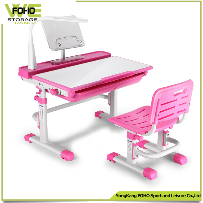 Adjule Non Toxic Writing Table Children Study Desk With Led Lamp
