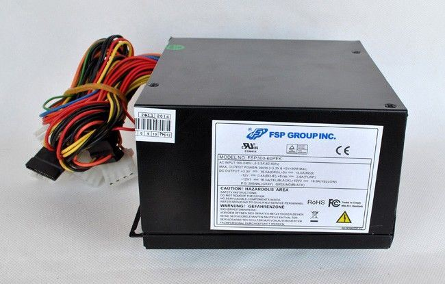 China Computer Power Supply, PC Power Black Coating 300W SMPS, Black ...