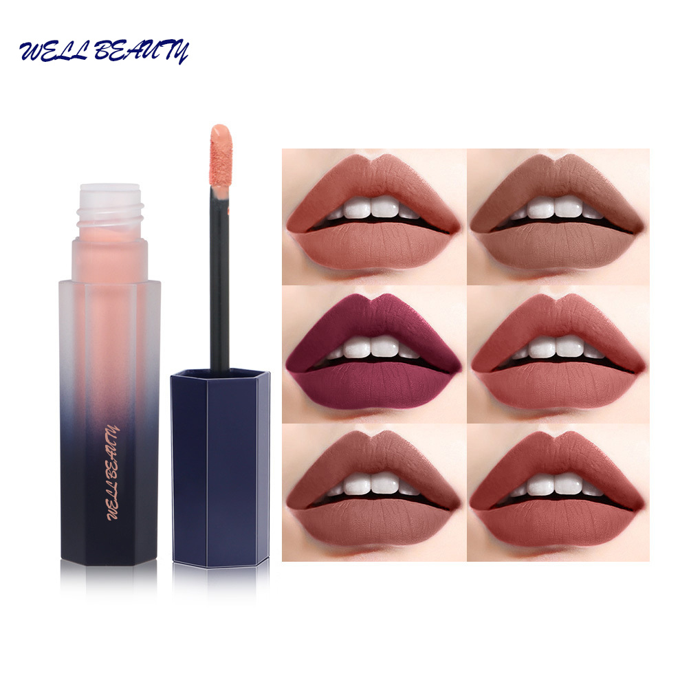 Best Selling Private Label Matte Waterproof Liquid Lipstick Lapiz Labial Batom Matte Cosmetic