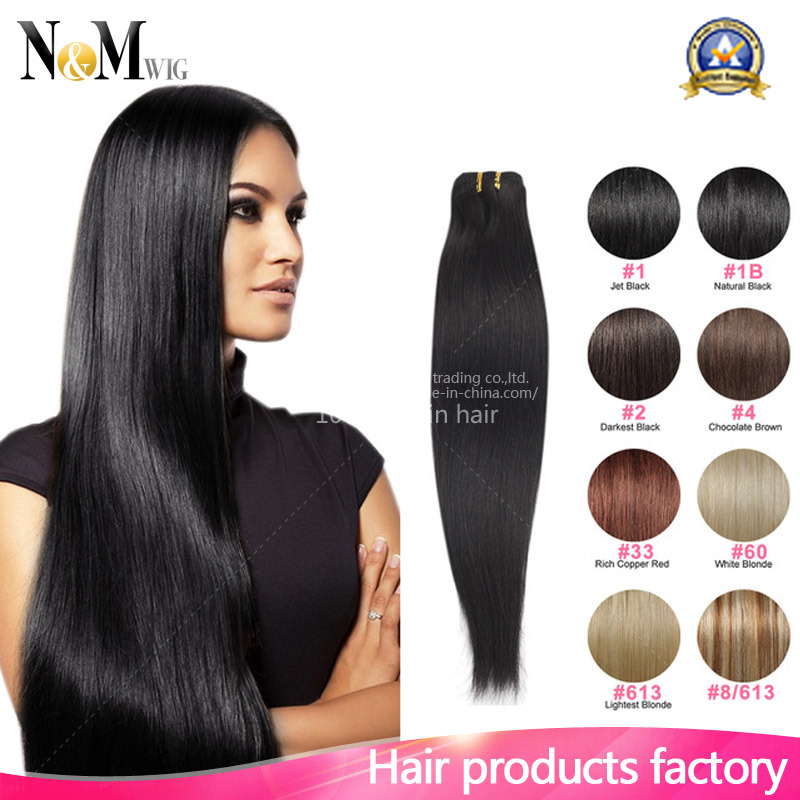 China 8 Inch Clip In Human Hair Extensions Indian Straight Clip In