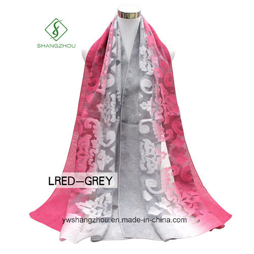 2017 Newest Multicolor Lady Fashion Silk Scarf with Cutting Flower pictures & photos