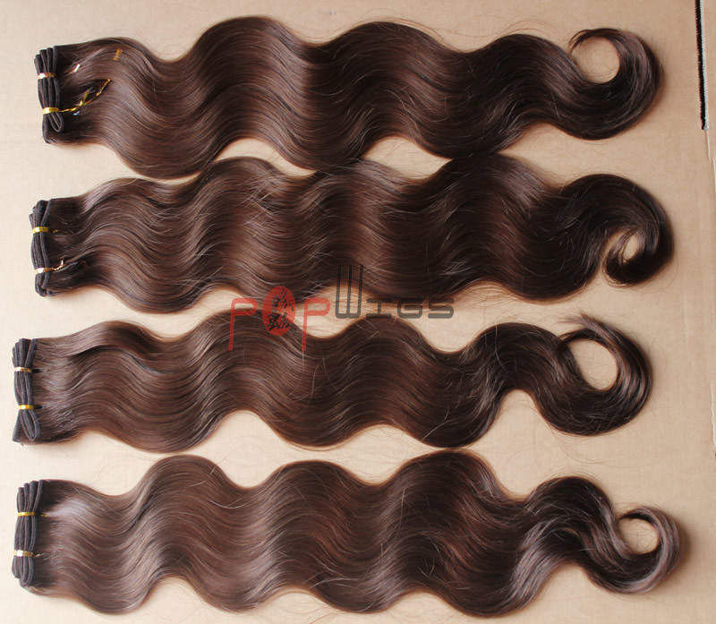 Human Natural Color Full Cuticle Hair Body Wavy Hair Weaving pictures & photos
