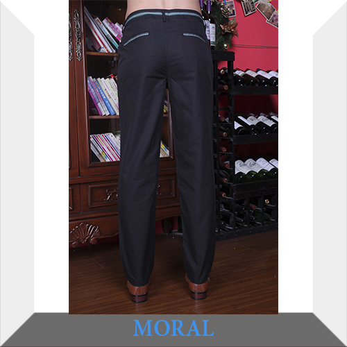 Men′s Casual Business Black Trousers
