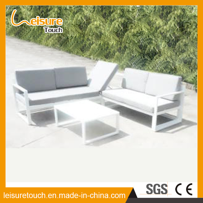 Leisure Garden Outdoor Patio Pool Furniture Wicker Rattan Sitting Room Aluminum Sofa Set pictures & photos