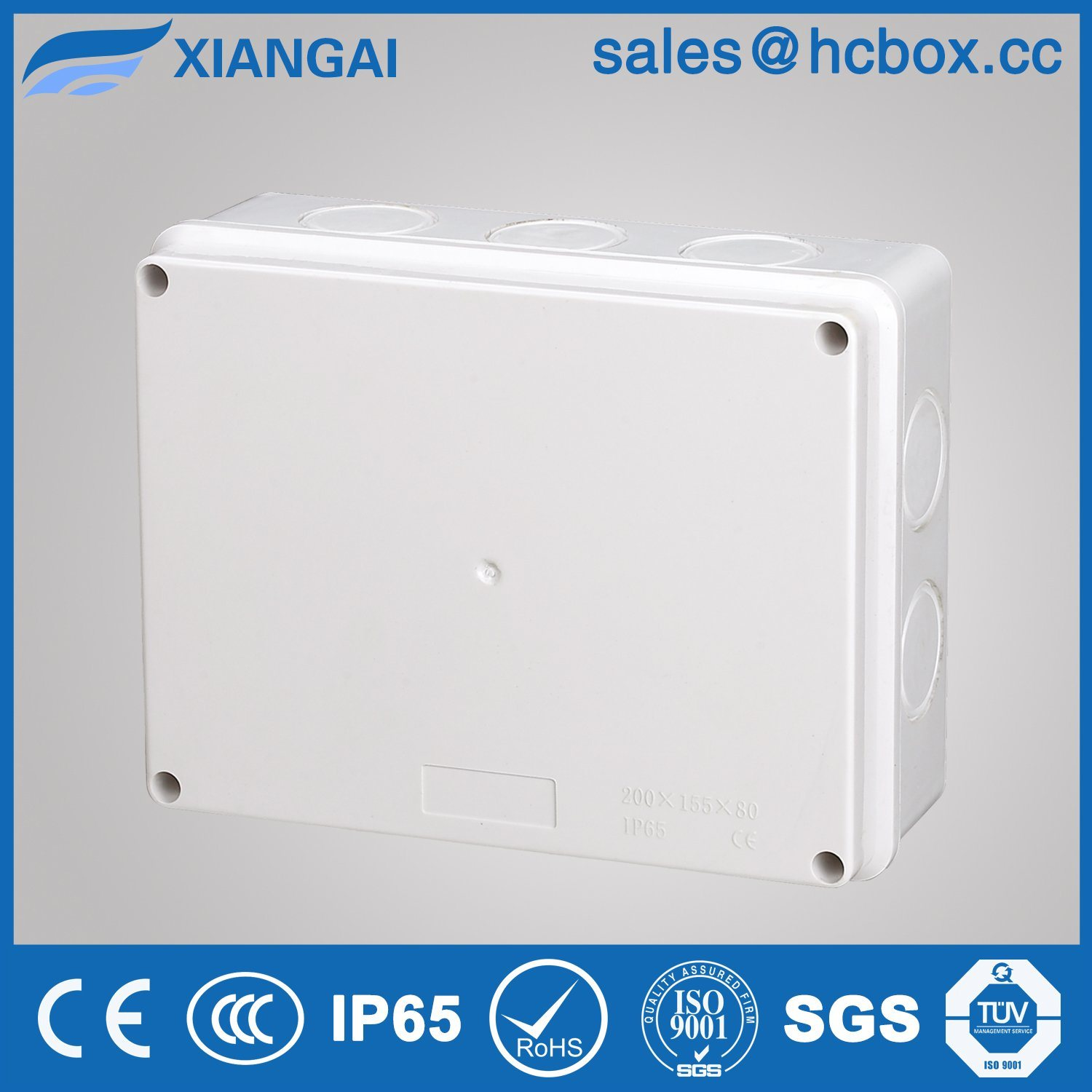 Hc-Bt200*100*70mm Waterproof Junction Box Electrical Box Connection Box IP65 Junction Box