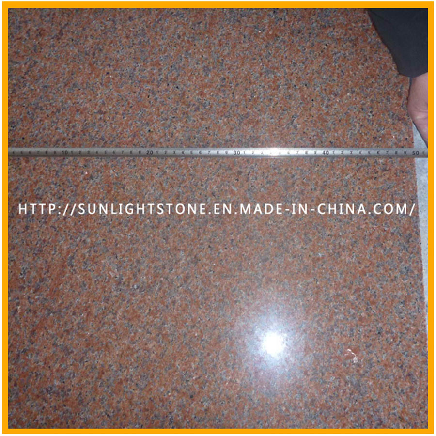 China Natural Polished G562 Maple Red Granite Stone Floor Tiles