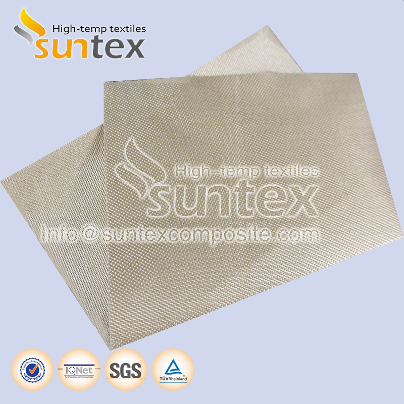 800 C Vermiculite Coated Fiberglass Fabrics for Welding Protection Barriers and Pipe Thermal Insulation Jacket