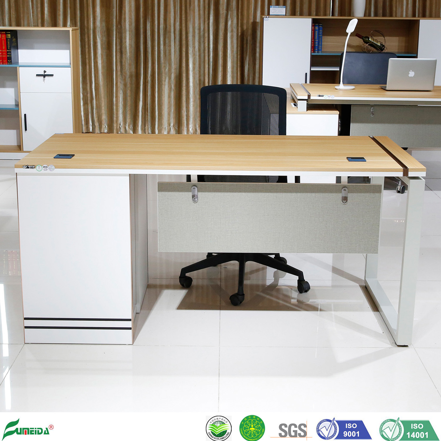 China 1600mm Small Wooden Office Table Modern Design Executive Desk With Metal Feet China Executive Desk Office Table
