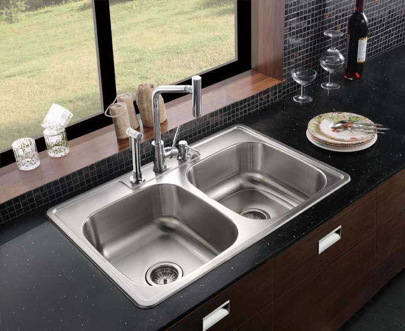 stainless steel top mount kitchen sinks kitchen sink top mount or mount 9422