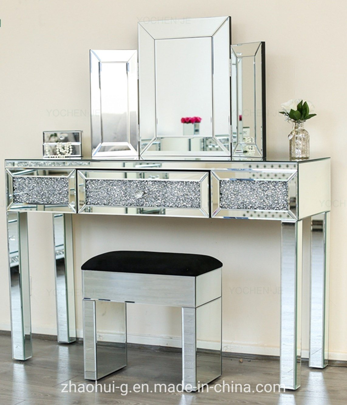 Crush Furniture Mirrored Dressing Table