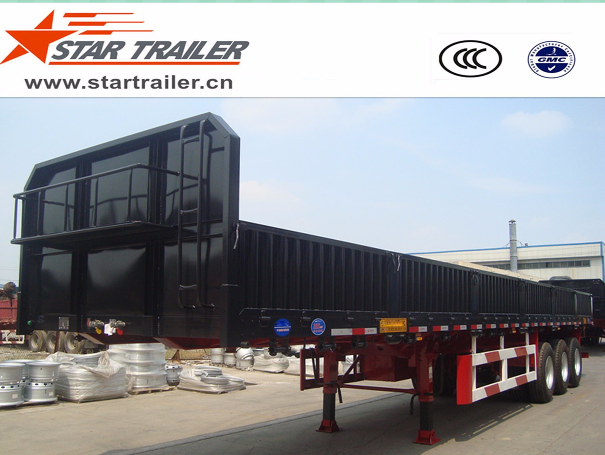 3 Axles Dropside Semi-Trailer