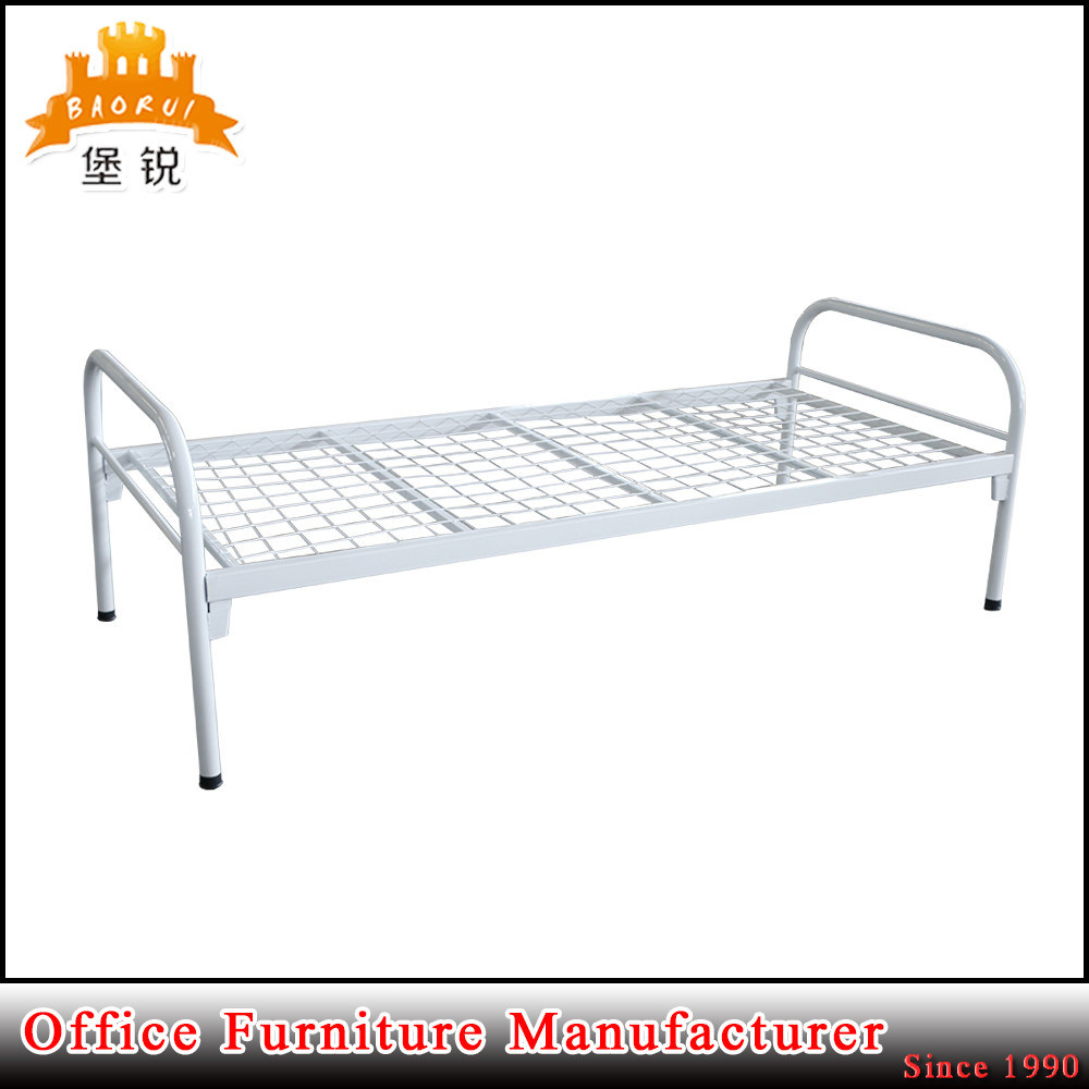 China Fas 086 Kd Furniture Iron Round Tube Frame Metal Single Bed   China  Bed, Single Bed
