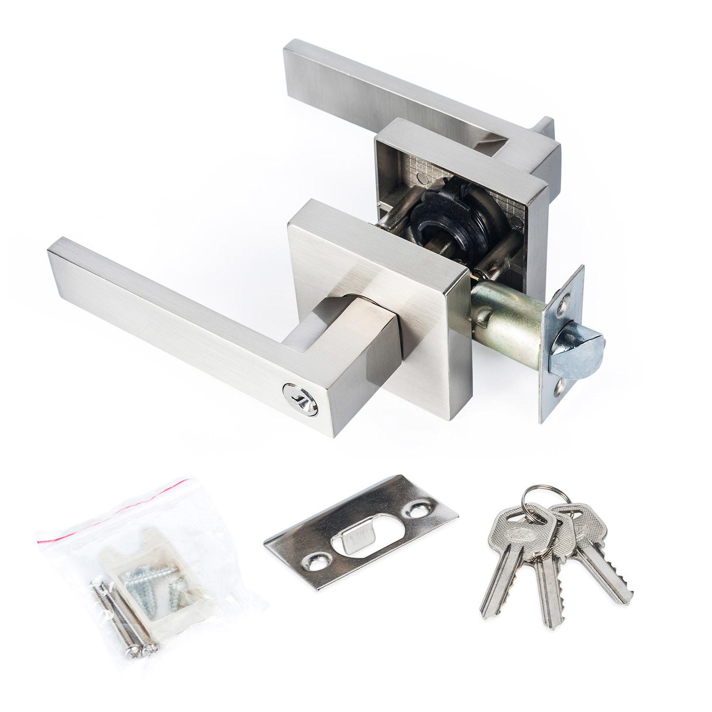 Hot Item Chrome Stainless Steel Lever Set Door Lock Handle Lever Set