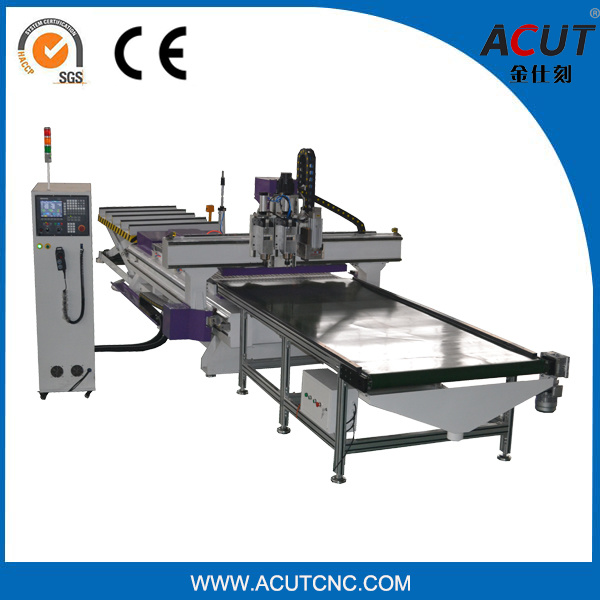 [Hot Item] Auto Load and Unload CNC Router 1325, Highly Automated Nesting  Solution Machine with Automatic Loading and Unloading System